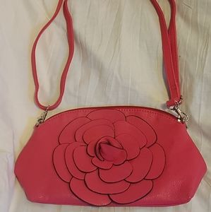 🕸5 for $25🕸 Hot pink vegan leather purse
